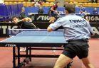 18-21 октября 2007 года, Санкт-Петербург. ITTF pro tour EUROSIB Открытый чемпионат России по настольному теннису. Станислав Голованов, Россия (слева) в атаке.