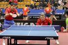 18-21 октября 2007 года, Санкт-Петербург. ITTF pro tour EUROSIB Открытый чемпионат России по настольному теннису. Алексей Смирнов (слева) и Дмитрий Мазунов, Россия.
