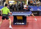 18-21 октября 2007 года, Санкт-Петербург. ITTF pro tour EUROSIB Открытый чемпионат России по настольному теннису. Алексей Смирнов, Россия (справа в атаке).