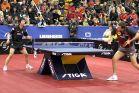 18-21 октября 2007 года, Санкт-Петербург. ITTF pro tour EUROSIB Открытый чемпионат России по настольному теннису. Mizutani Jun из Японии (слева) и Тимо Болл из Германии.