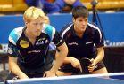 18-21 октября 2007 года, Санкт-Петербург. ITTF pro tour EUROSIB Открытый чемпионат России по настольному теннису. №38 Suss Christian (слева) и №24 Ovtcharov Dimitrij, Германия.